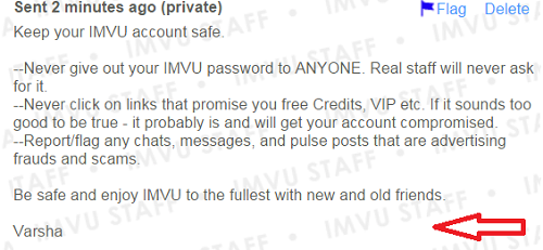 IMVU - View topic - Keep your IMVU account safe  beware of