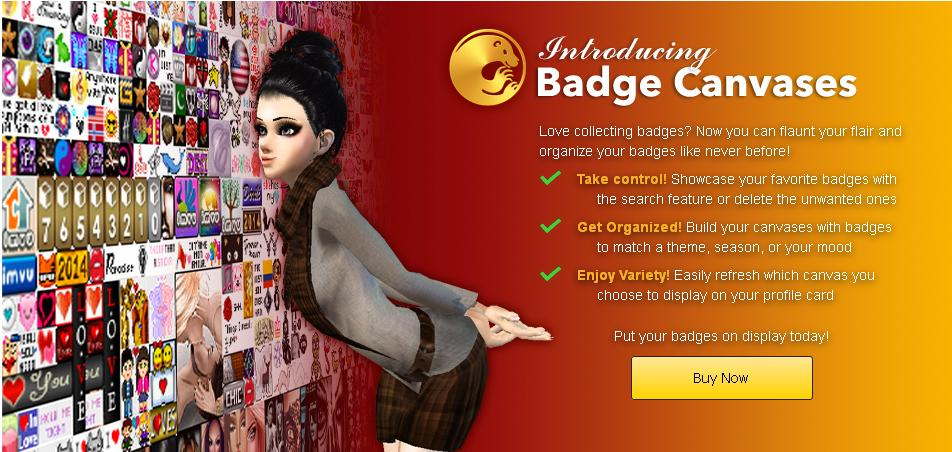 Introducing IMVU Badge Canvases!