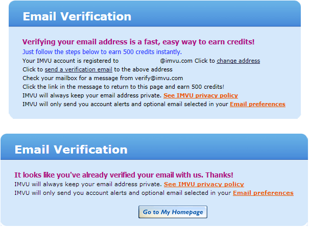 how can i tell if my email address is verified
