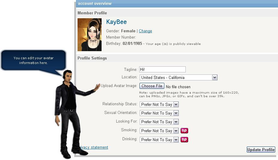 Customize your imvu homepage