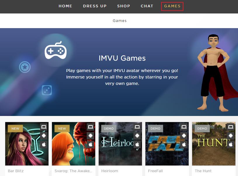 Introducing IMVU Games!