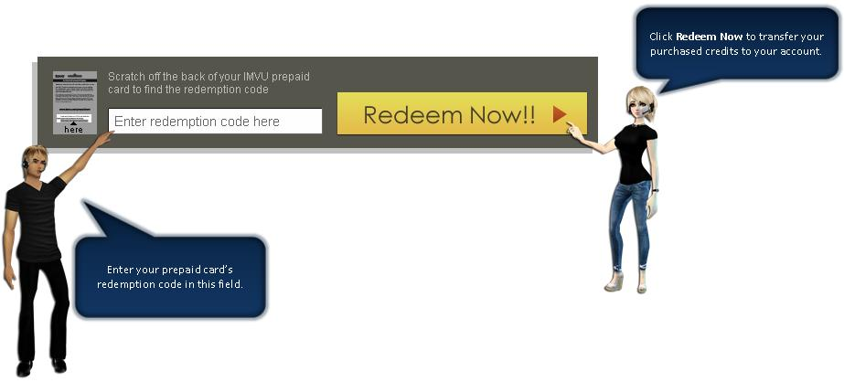 How to Redeem Credits Using Your IMVU Gift Card