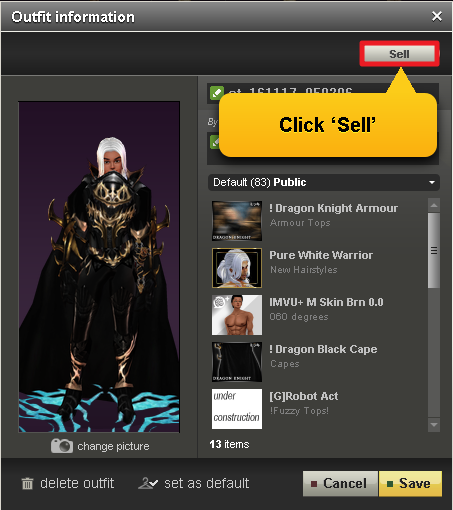 04f4b4ba411f How do I sell Outfits in IMVU s Catalog