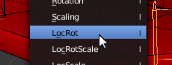 Inserting LocRot (Location & Rotation 'pose' data) to the timeline