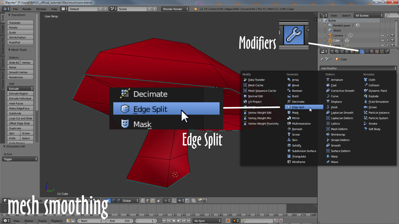 Controlling smoothing using Edge Split