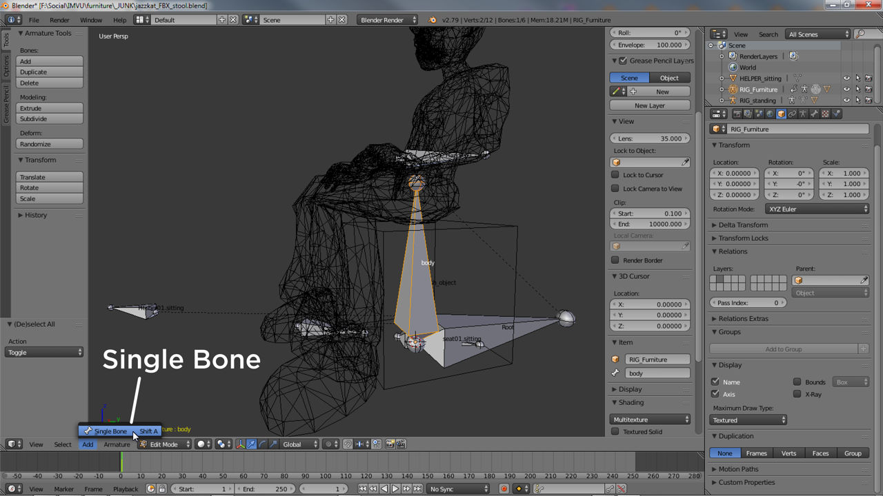 Changing an Armature means being in Edit Mode and adding more Bones