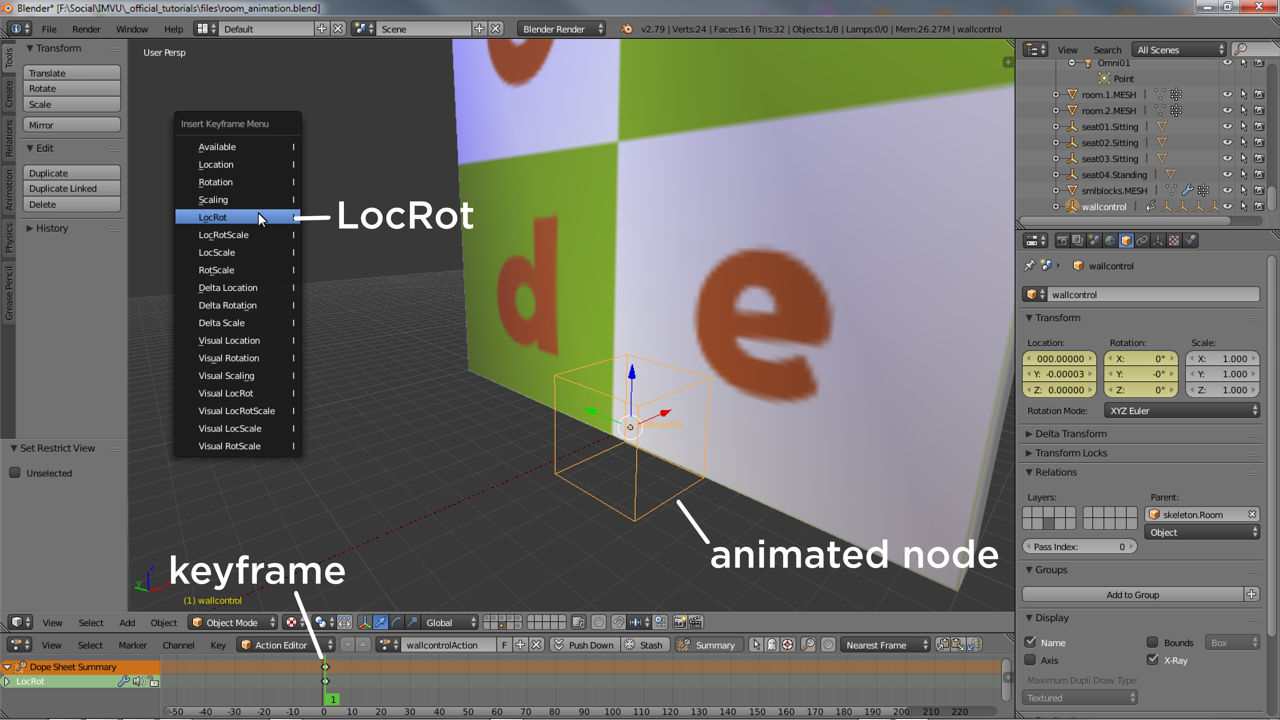 Marking keyframes to the Action Editor in Blender - LocRot only (Scale not usable)